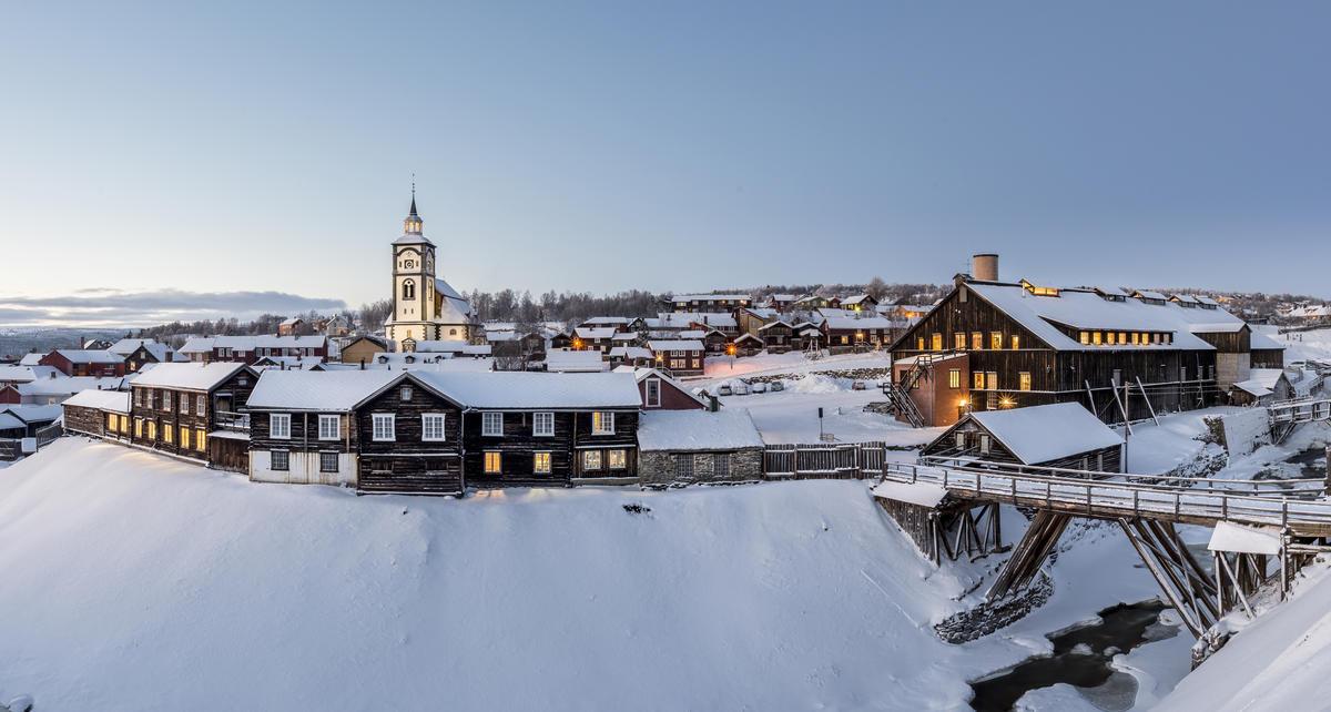 CROP_Malmplassen, Røroskirka, Smelthytta panorama
