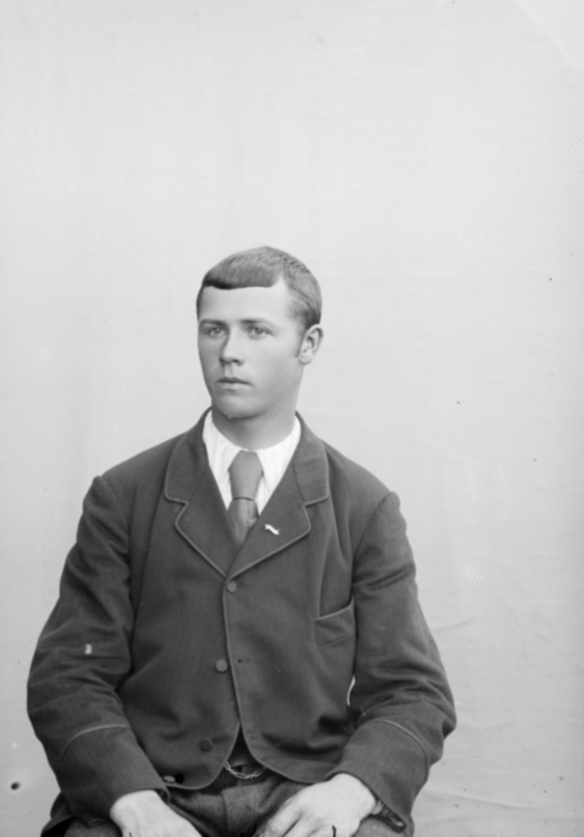 Portrett, ung mann, Lars Indahl
