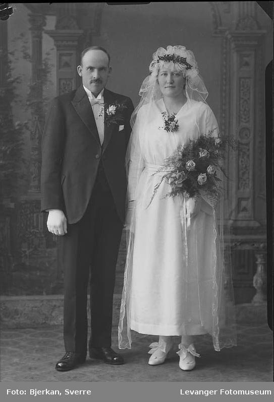 Portrett av et brudepar. Etternavnet er Rytter fornavn ukjent