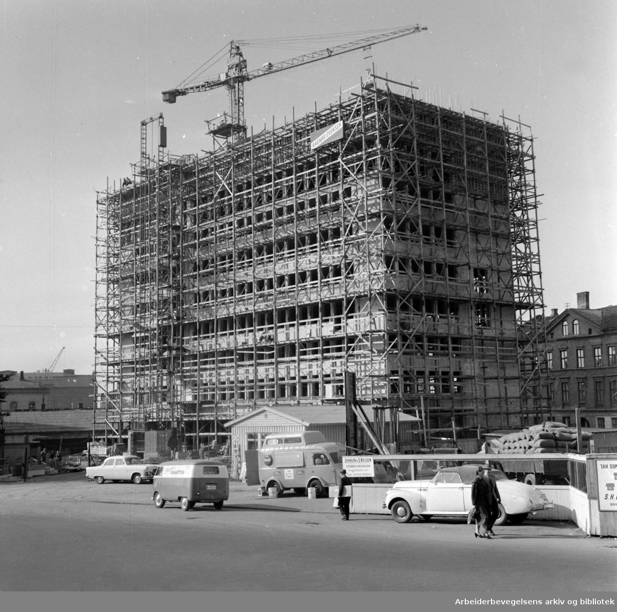 Vika, Wilhelmsens nybygg. September 1958