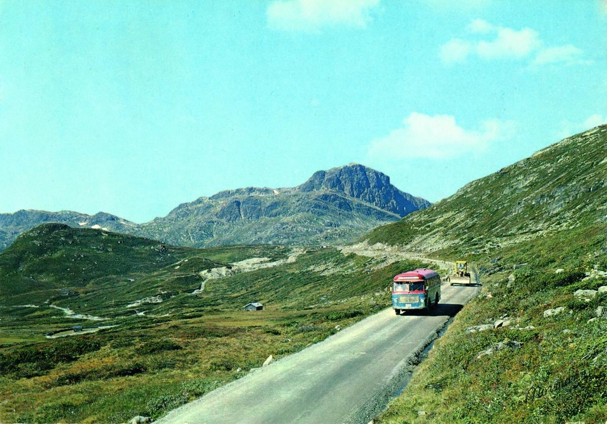 Her E-15536  Scania Vabis B 75, 1962 mod. med Brødrene Repstad karosseri.