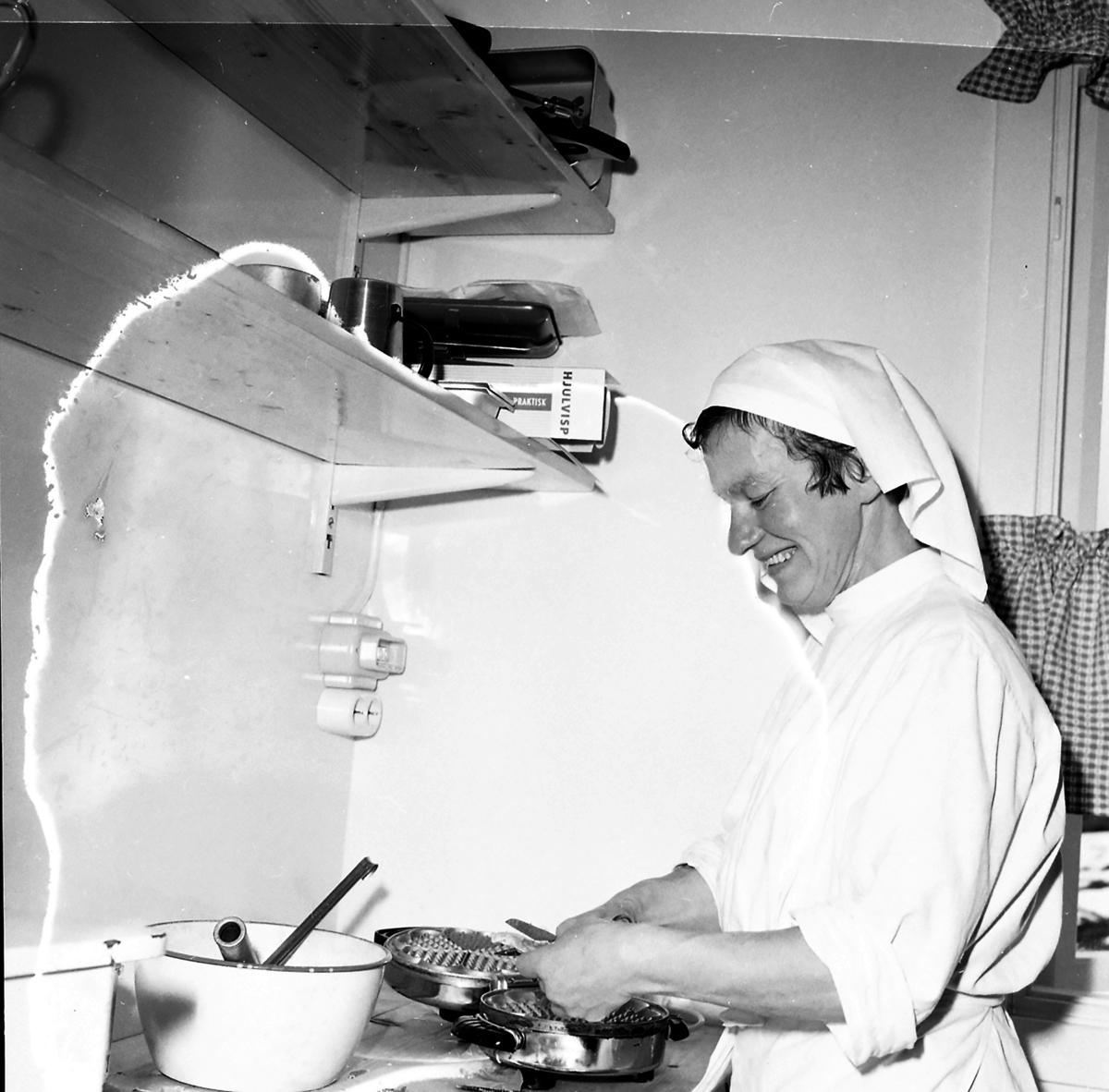 Fra Elgstua, en kvinne i kjøkken