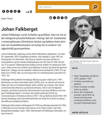 Falkberget på Allkunne.no