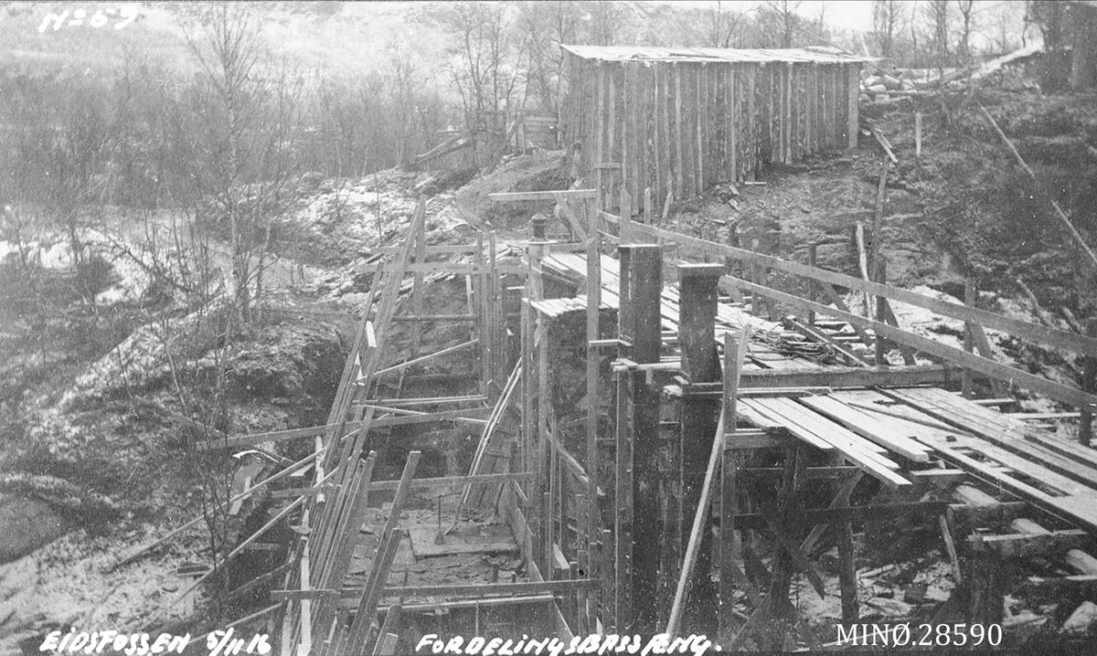 """Eidsfossen oktober 1916 - """"Fordelingsbassæng"""""""