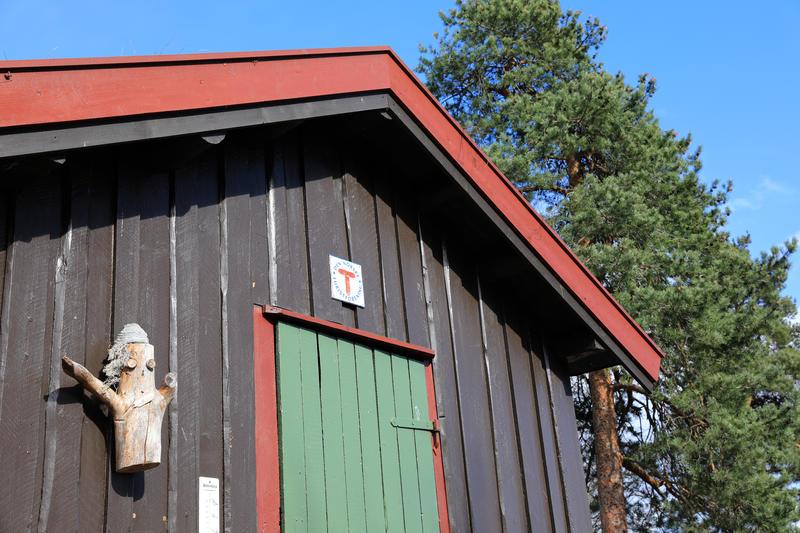 DNT-hytte på Norsk Folkemuseum. 25.04.18. Foto: Astrid Santa, Norsk Folkemuseum.