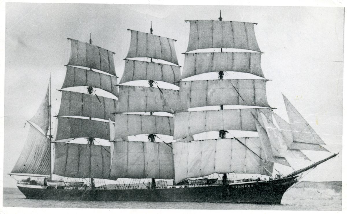 Fyrmastade barken Pommern ägdes av Gustaf Eriksons rederi 1923-1953.