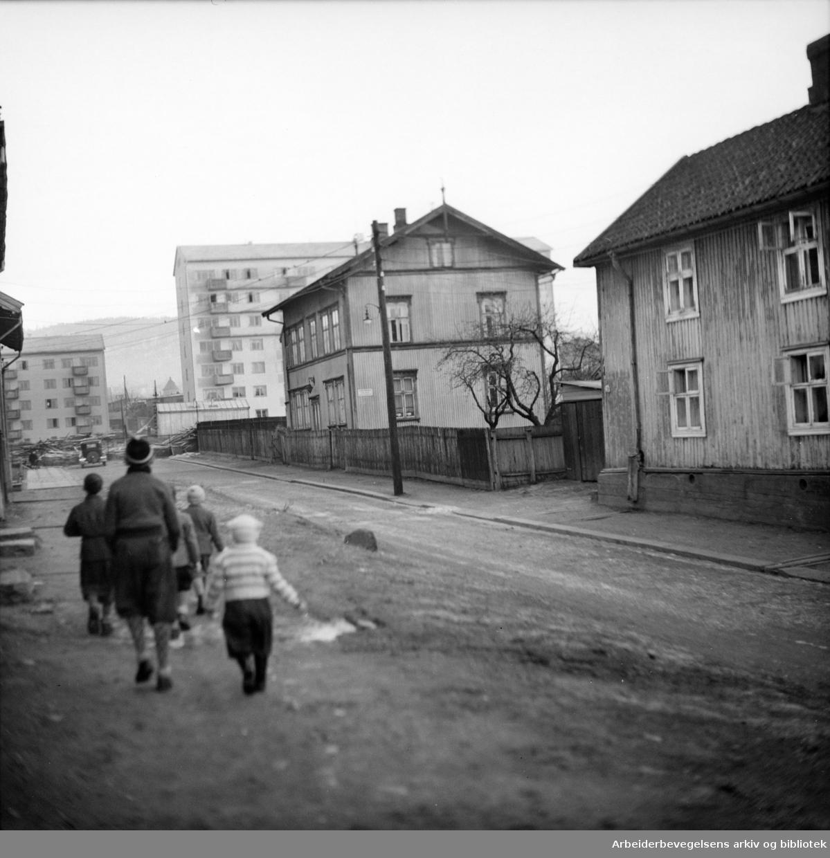 Nils Huus gate. Januar 1949