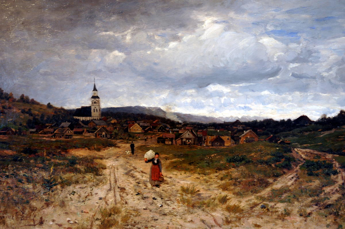 Jacob Oxholm Schive: Blick auf ein Dorf