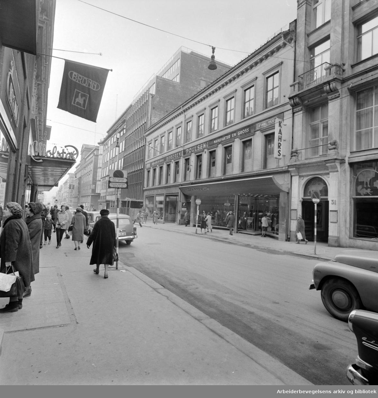 Kongens gate nr. 29 er kjøpt av Steen og Strøm. April 1963