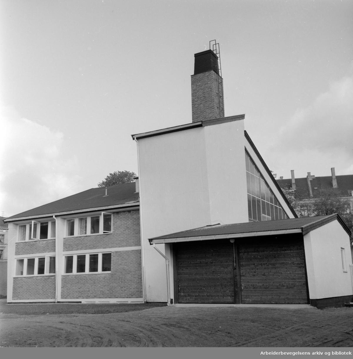 Kretsfengslet i Åkebergveien. Oktober 1958