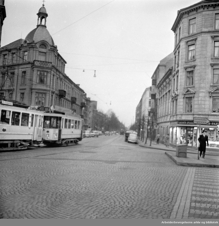 Kirkeveien. November 1957
