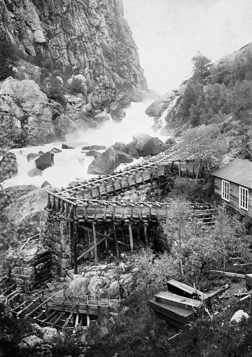 Laksetrapp i Rjukanfossen elva Sira i Vest-Agder.