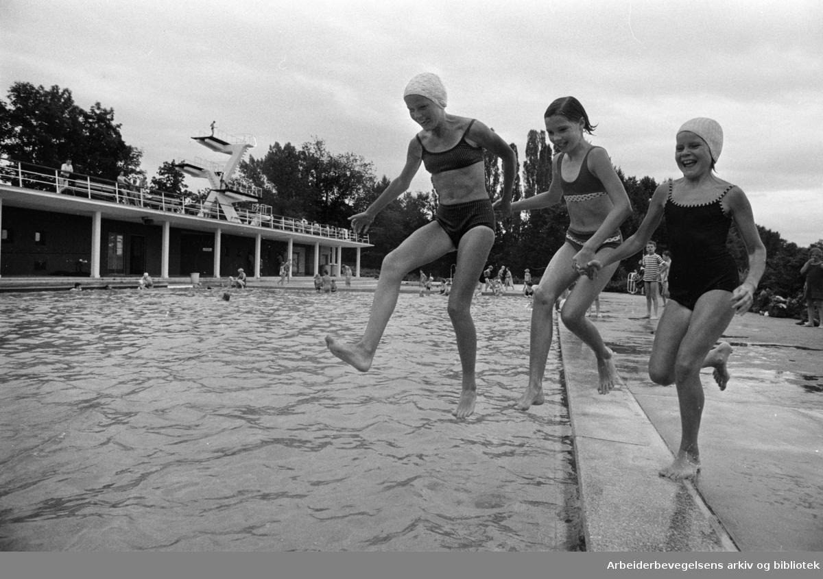 Frognerbadet. Juli 1969