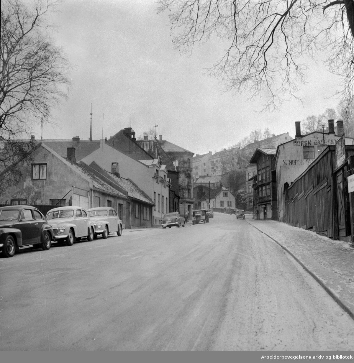Ekebergveien. Desember 1957