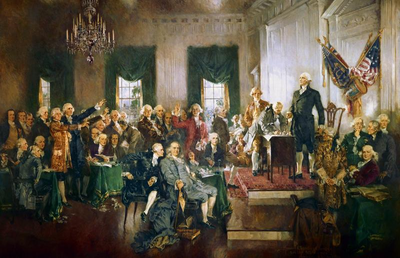 """""""Scene at the Signing of the Constitution of the United States"""" av Howard C. Christy (Foto/Photo)"""