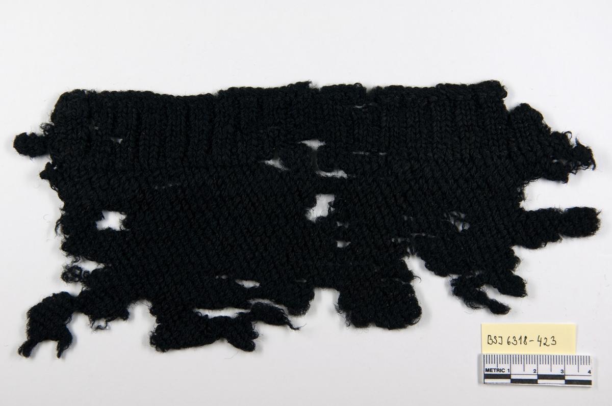 Tekstil: Strikket tekstilfragment