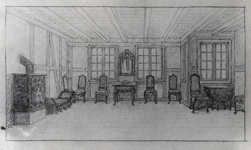 Skisse til innredning av salen i Tollbugata 14 (Foto/Photo)