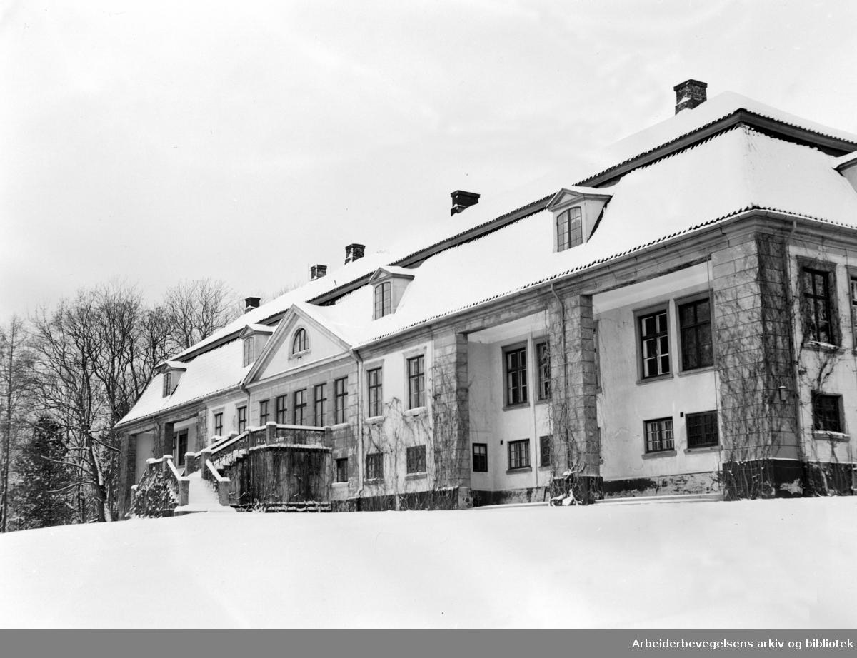 Bogstad gård. November 1954