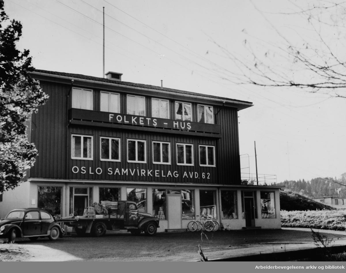 Abildsø Folkets Hus. Oktober 1958