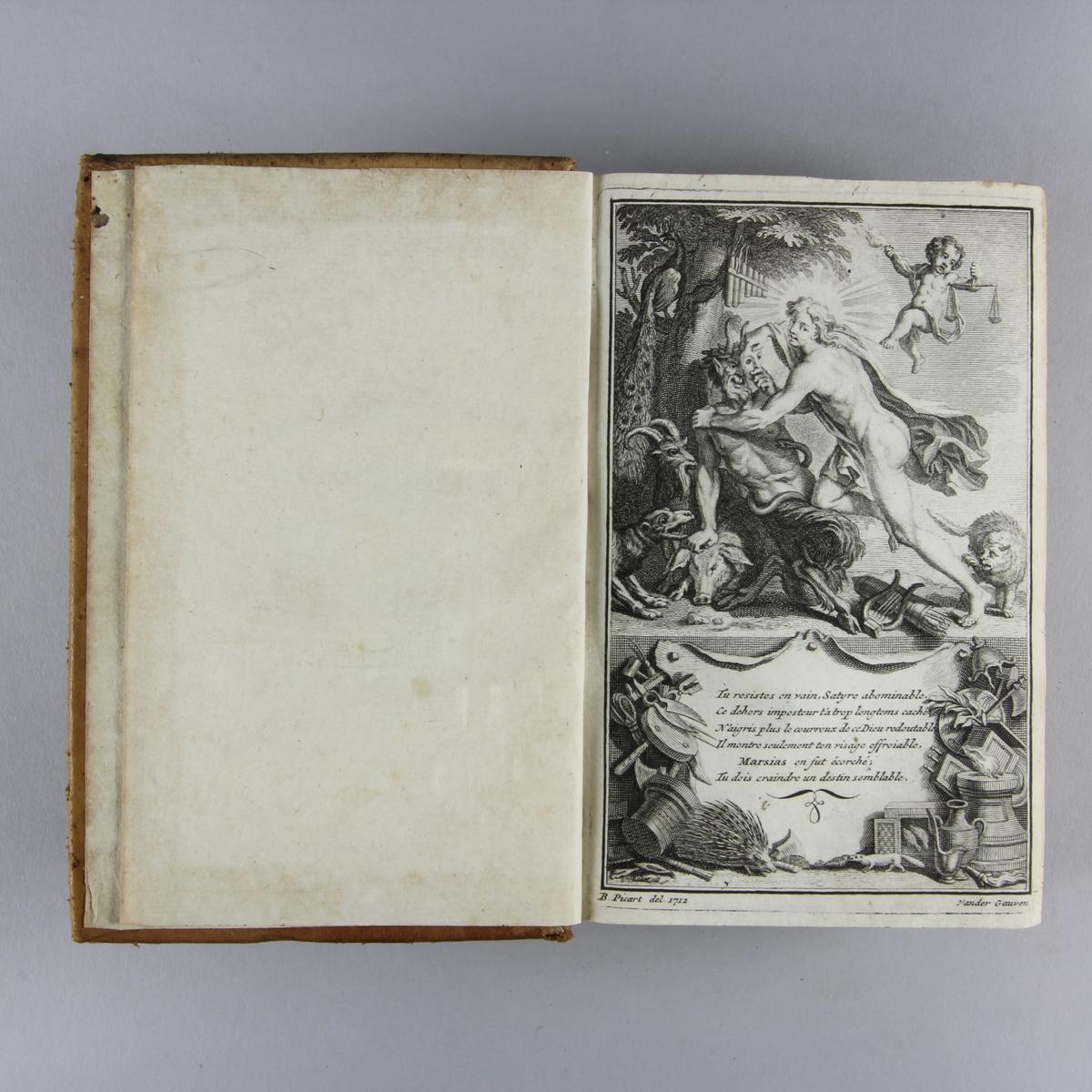 """Bok, helfranskt band """"Histoire des revolutions d´Espagne"""", del 5. Skinnband med guldpräglad rygg i fem upphöjda bind. Blåstänkt skuret snitt."""
