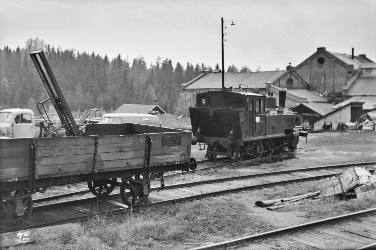 Damplokomotiv type 50a nr. 18 på Klevfos Cellulose- & Papirfabrikk.