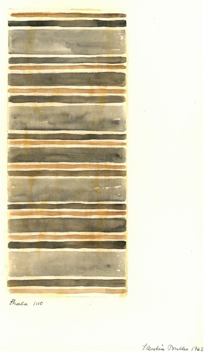 Skiss till trasmatta. Formgivning: Kerstin Butler 1962