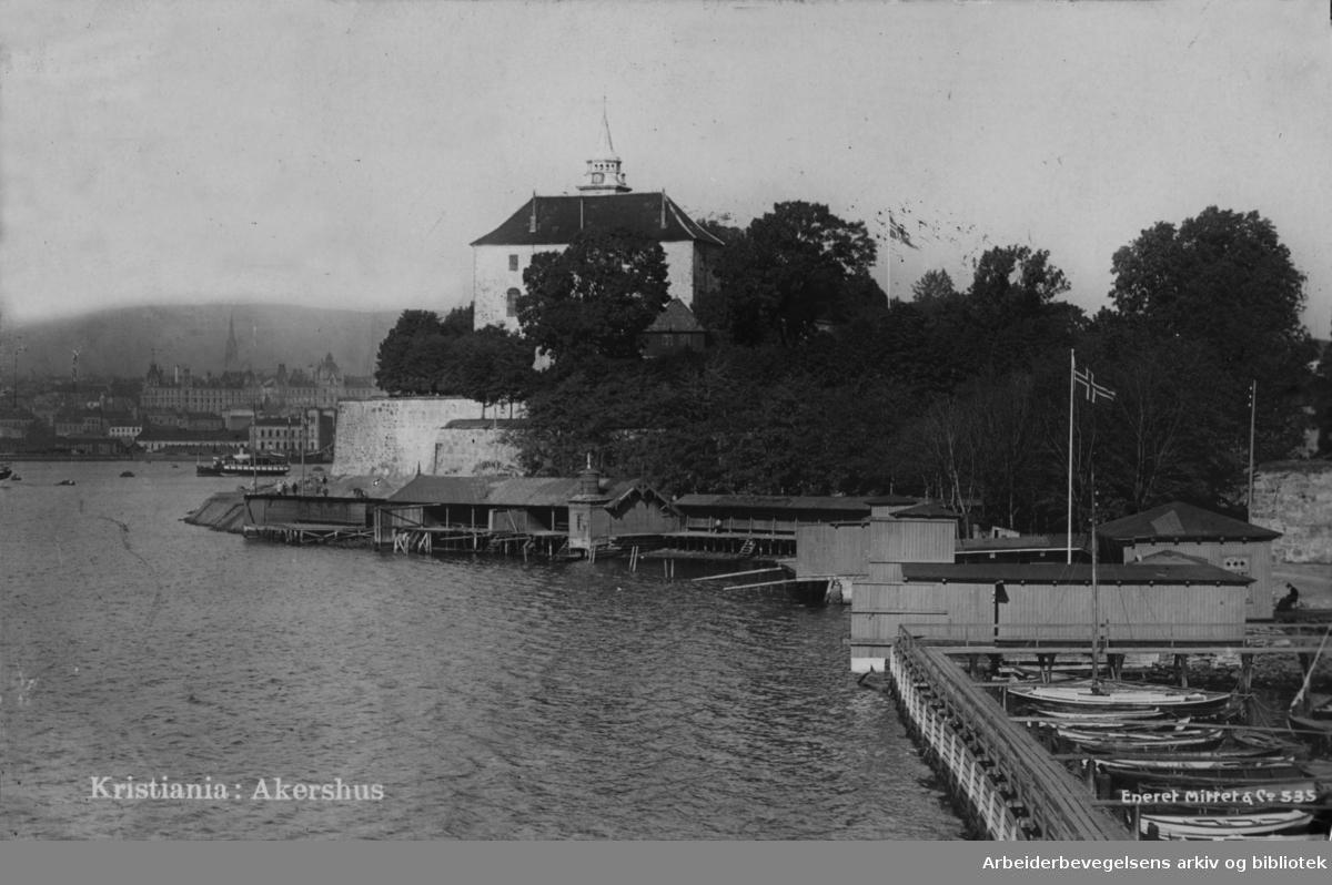 Akershus Festning. Postkort. Desember 1949