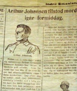 Denne tegningen er kanskje den eneste som finnes av Arthur Johansen
