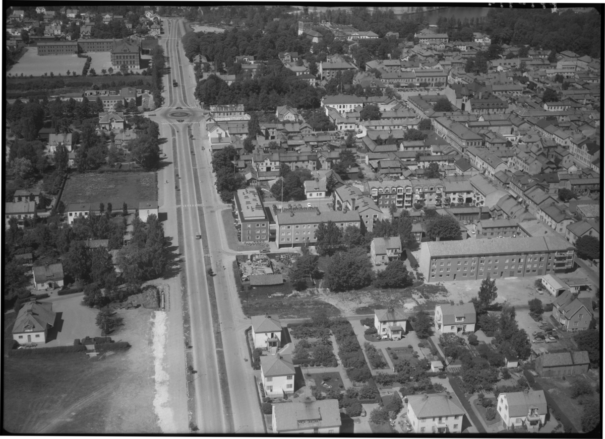 Flygfoto över Sala.