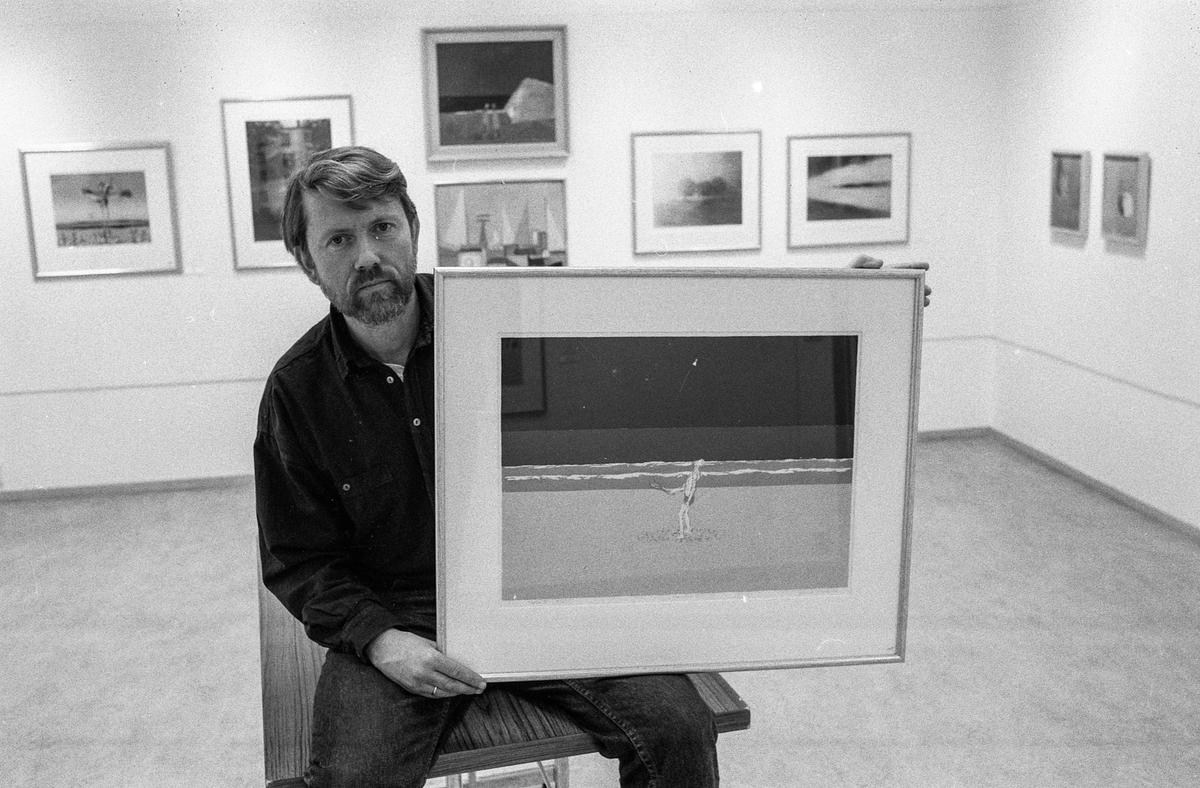 Øyvind Brune med utstilling i Kolbotn bibliotek.
