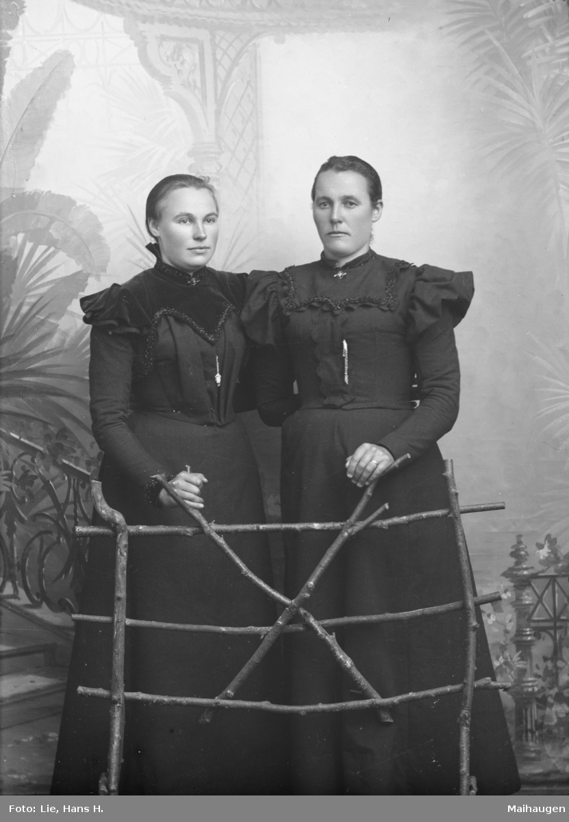 Portrett, helfigur Anette og Hanne Bukholdt.