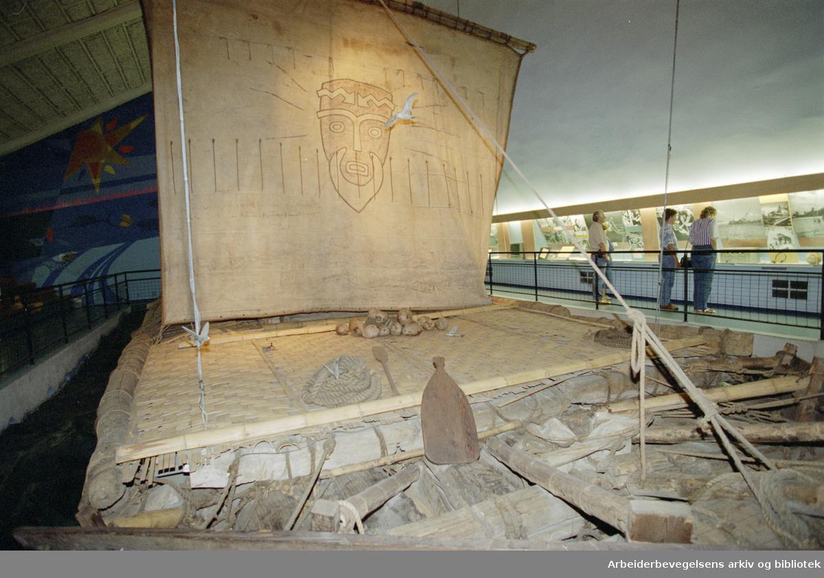 Bygdøy Kon-Tiki museet. Kon-Tiki-flåten. 20. juli 1995