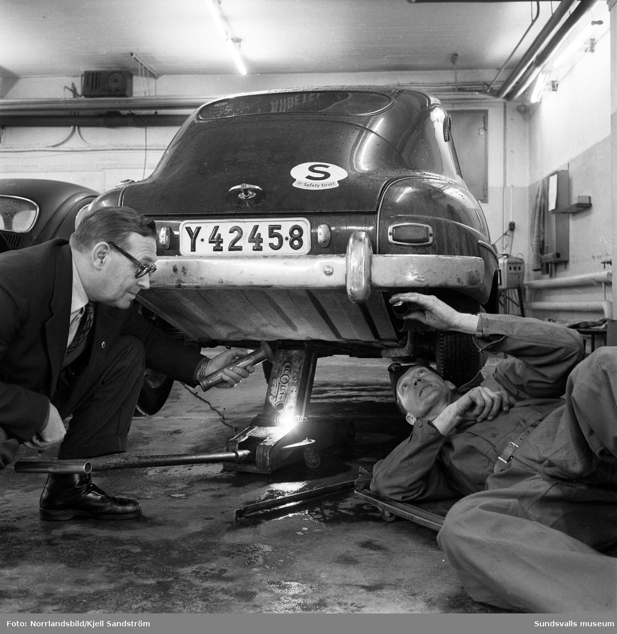 Motormännens riksförbund gör biltester på Bil & Buss i Sundsvall.