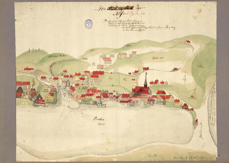 Den bye Moss i Aggershus stift. Her stoed 1716 dend skarpe action med di svenske, da Obesl. Falchenberg blef skiudt og dend Norske General Budde beholt posten.