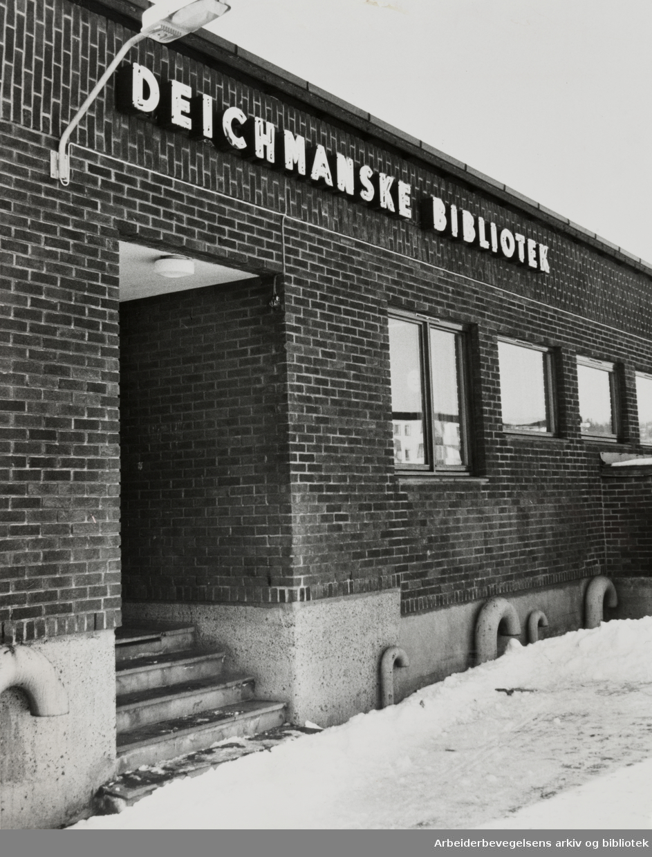 Deichmanske Bibliotek. Nordtvet filial. Februar 1981