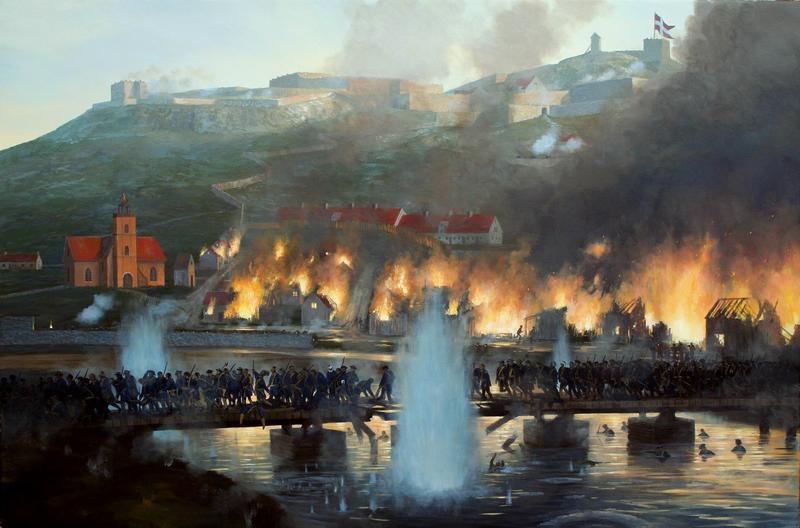 Skildring av bybrannen 1716.