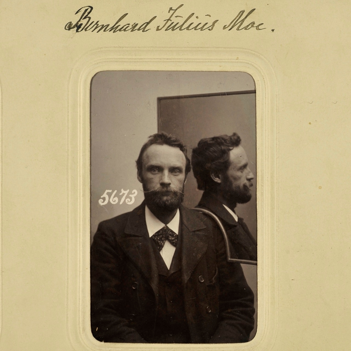 Registreringsfoto fra Kristiania-politiets sedelighetsalbum.