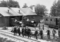 Lokstationen vid Dannemora station. På bilden syns två ånglo