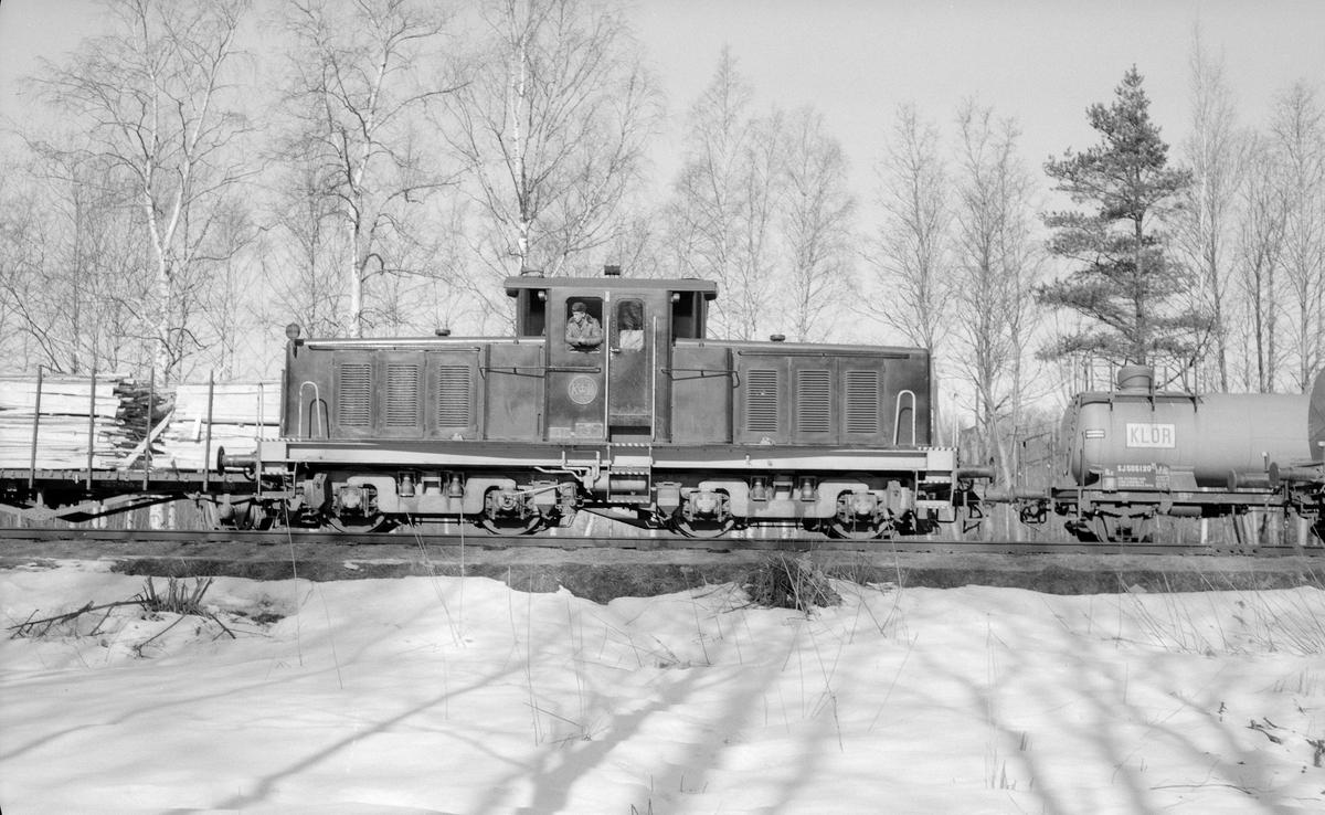 Korsnäs AB. Lok 4 tillverkat av ASJF 1958. Sålt till SSAB i Domnarvet 1985.