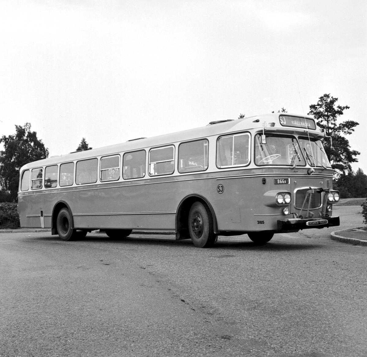 Leveransfoto. Scania Vabis. Typ CF 6561 SJ 3105. Destination Fjällbacka