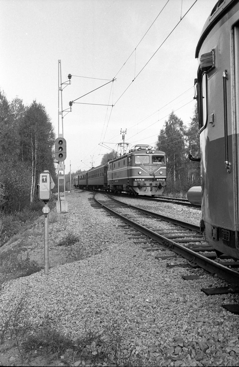 Statens Järnvägar, SJ Rc 1013. Fjb, fjärrblockering. Invigning sträckan Mjölby - Hallsberg, My-H