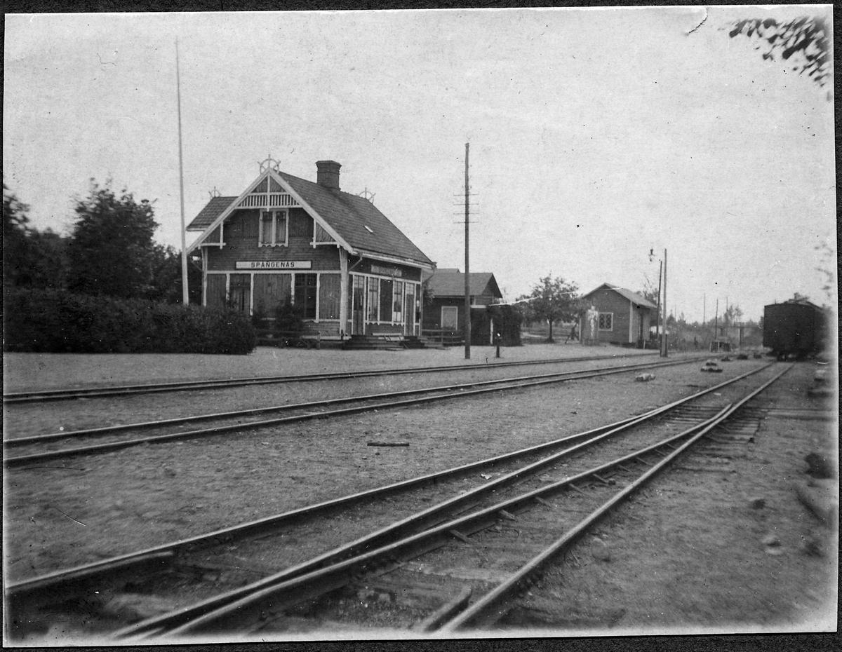 Spångenäs stationsområde.