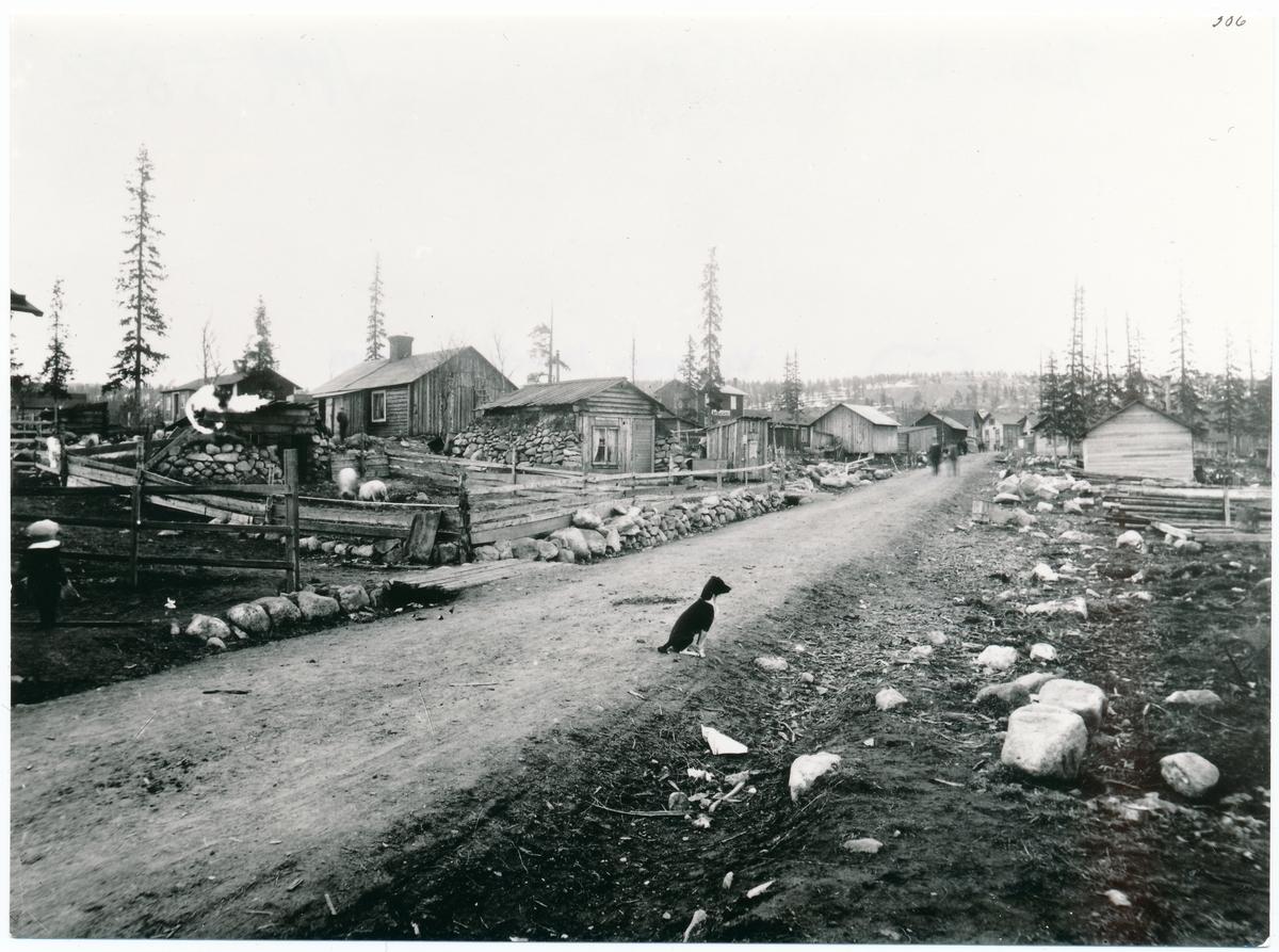 1898 - 1903 nuvarande torget och samhällets centrum 1938.
