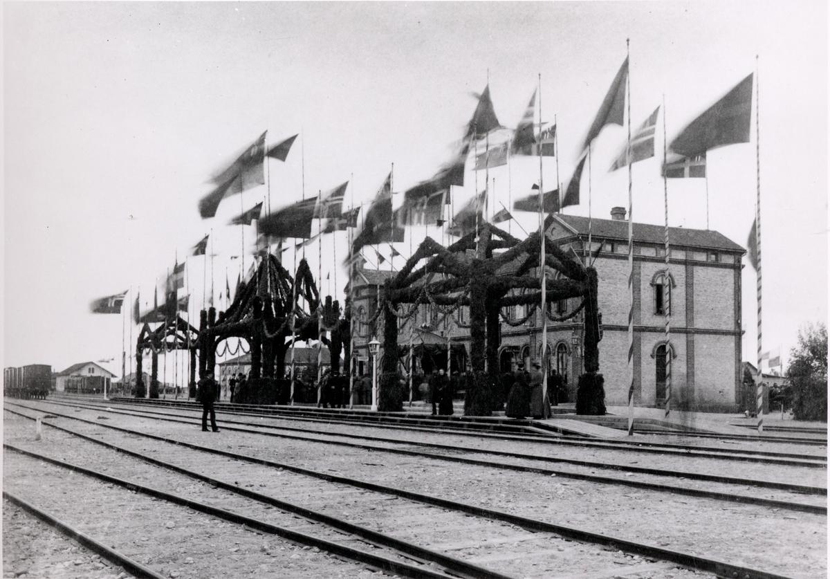 Halmstad station 1890-talet.