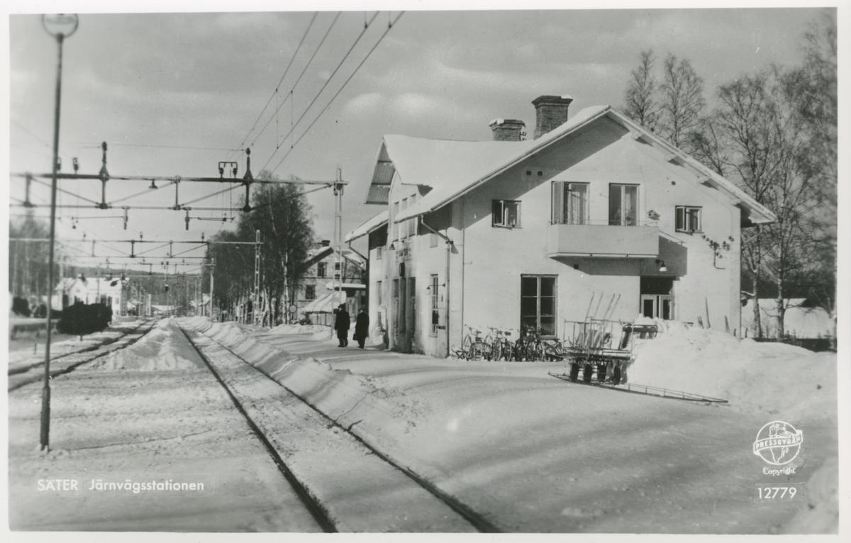 Södra-Dalarnes Järnväg, SDJ Järnvägsstationen Säter.