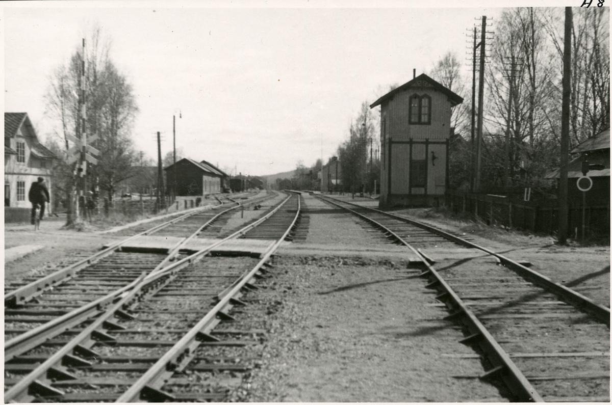 Bangården vi Arbrå station.
