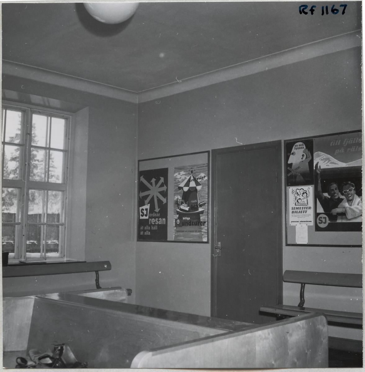 Interiör från stationshuset i Forsbacka.