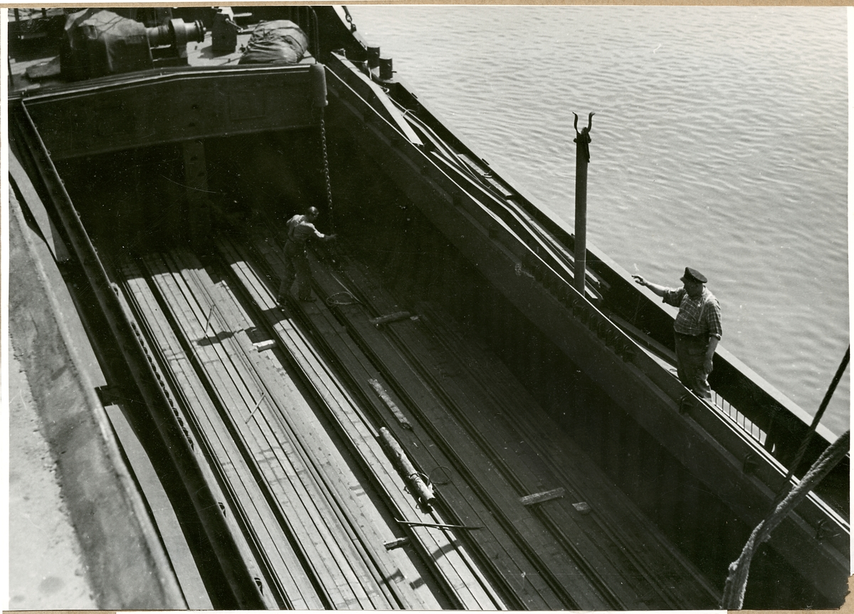 Lastning av tyska räler i Bremen 1953.