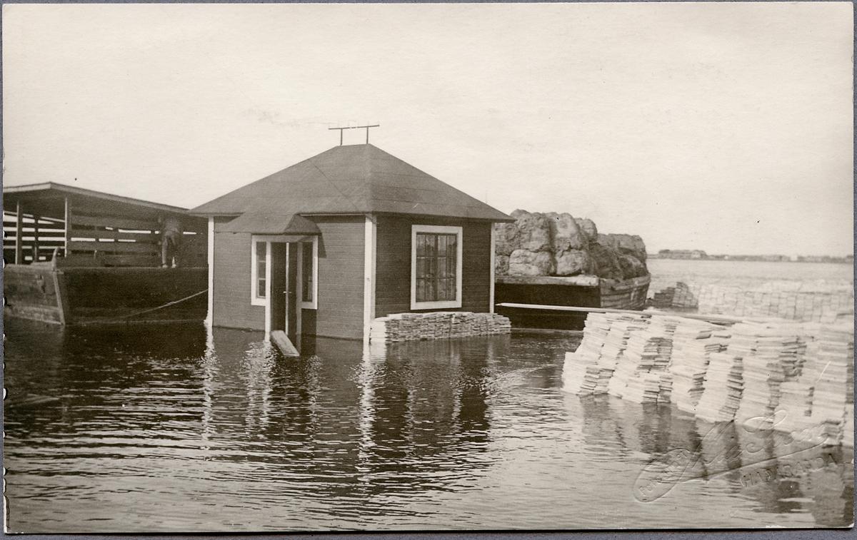 Översvämning vid Torneälven.