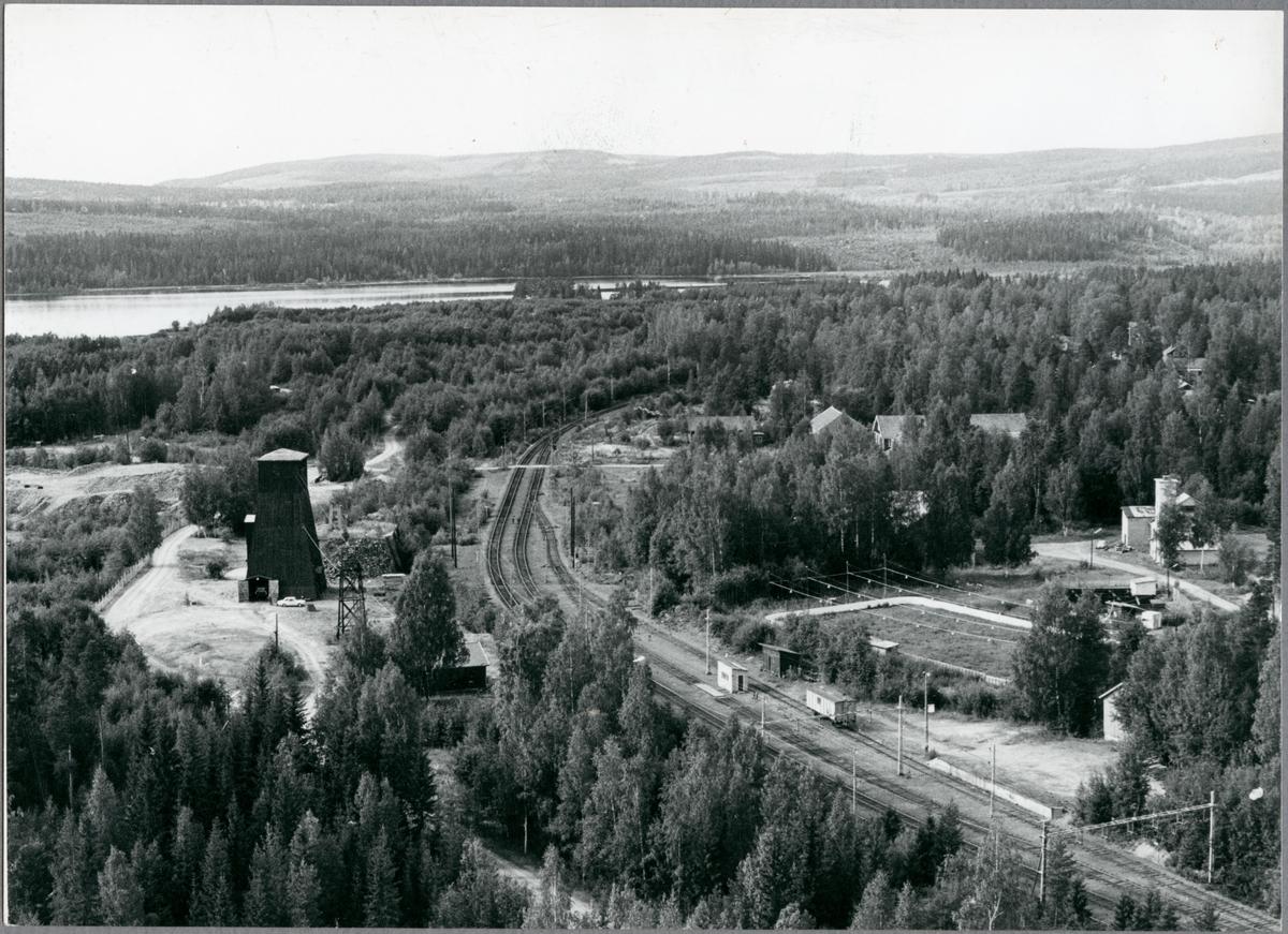 Utsikt på bangården i Blötberget.